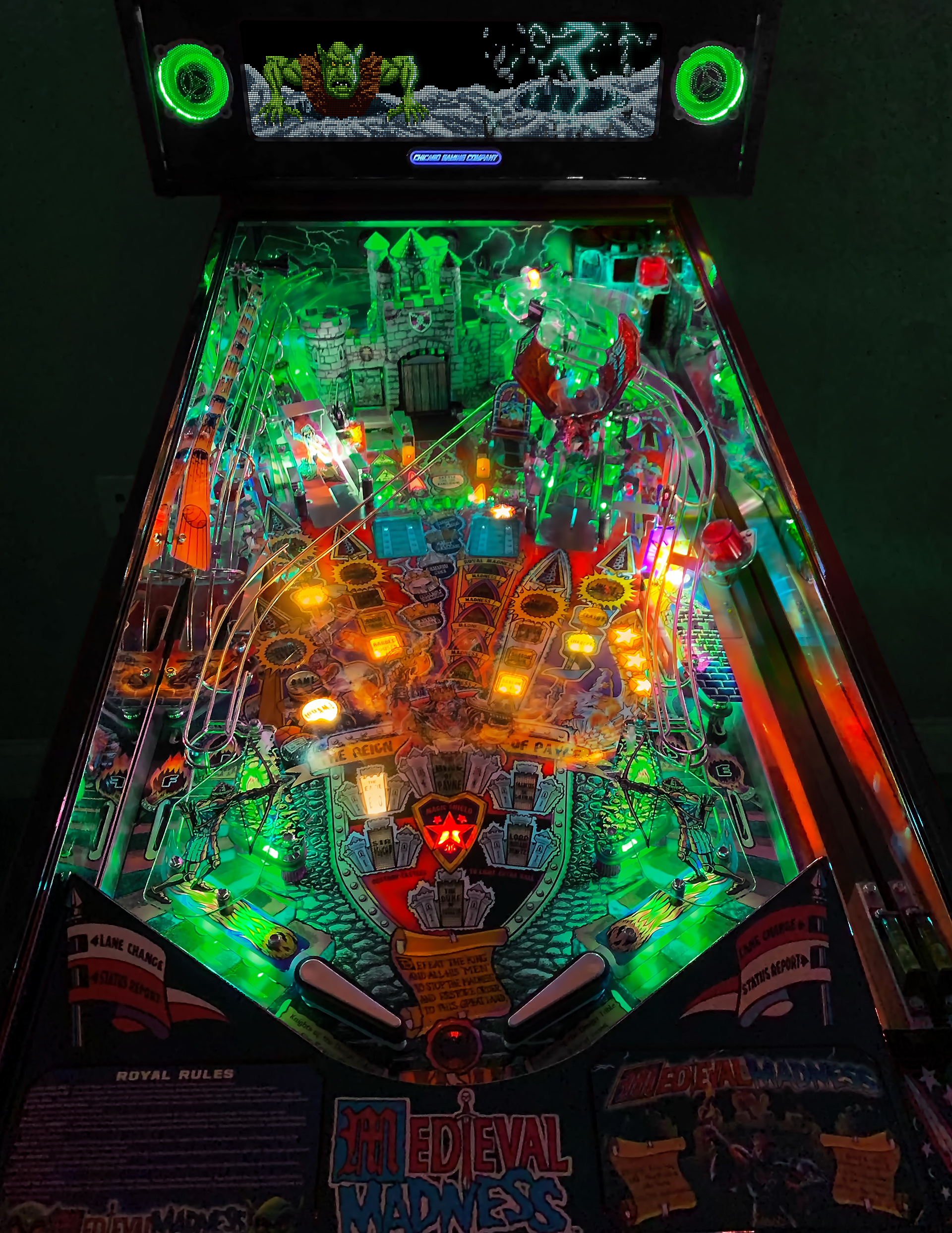 Medieval Madness Playfield Photo Green