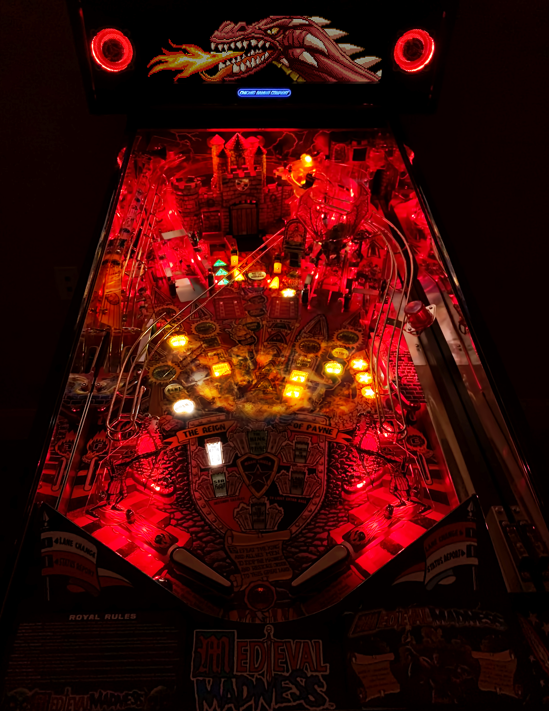 Medieval Madness Playfield Photo Red